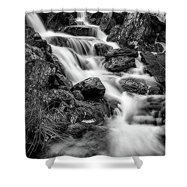 Winter Rapids Shower Curtain by Adrian Evans