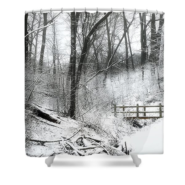 Winter Wonderland  Shower Curtain by Scott Norris