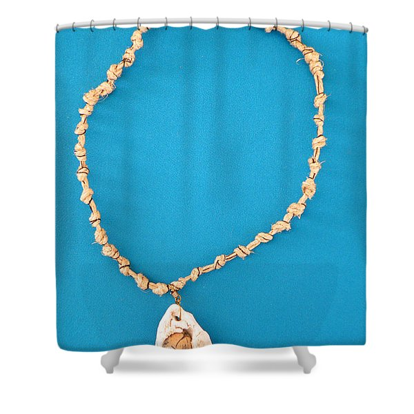 Aphrodite Antheia Necklace Shower Curtain by Augusta Stylianou