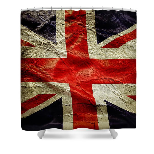 Union Jack  Shower Curtain by Les Cunliffe