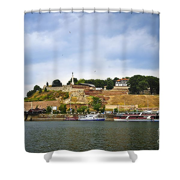 Kalemegdan fortress in Belgrade Shower Curtain by Elena Elisseeva