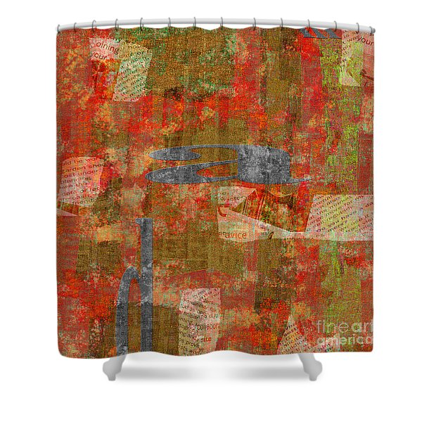 1352 Abstract Thought Shower Curtain by Chowdary V Arikatla
