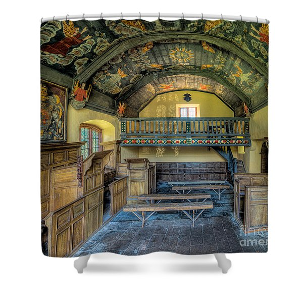 17th Century Chapel Shower Curtain by Adrian Evans