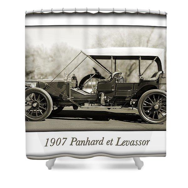 1907 Panhard et Levassor Shower Curtain by Jill Reger