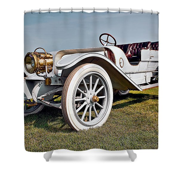 1910 Franklin Type H Touring Shower Curtain by Marcia Colelli