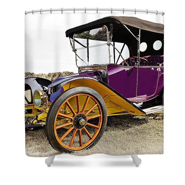 1913 Argo Electric Model B Roadster Shower Curtain by Marcia Colelli