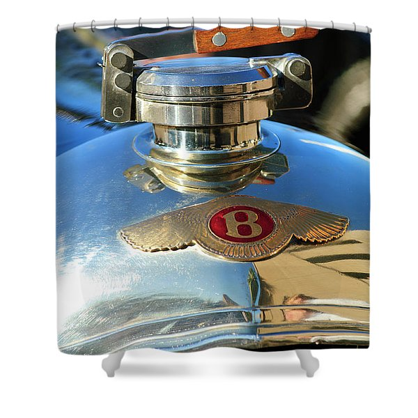 1927 Bentley Hood Ornament Shower Curtain by Jill Reger