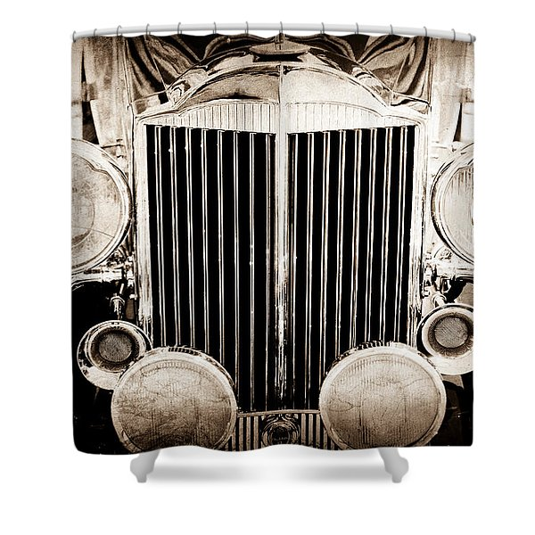 1933 Packard 12 Convertible Coupe Classic Car Shower Curtain by Jill Reger