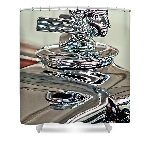 1933 Stutz DV-32 Dual Cowl Phaeton Hood Ornament 2 Shower Curtain by Jill Reger