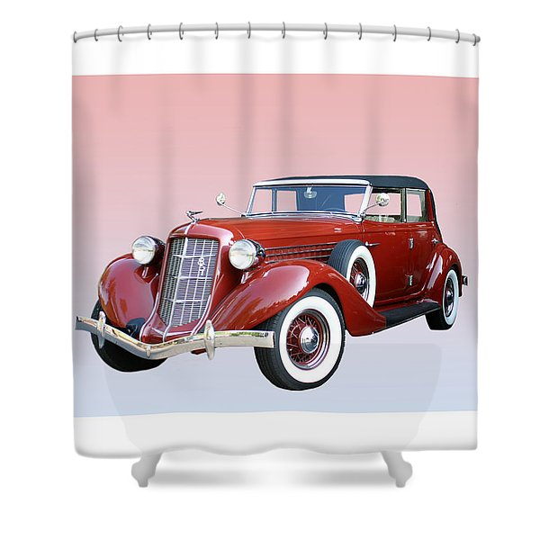 1935 Auburn 8 Phaeton 851 Shower Curtain by Jack Pumphrey