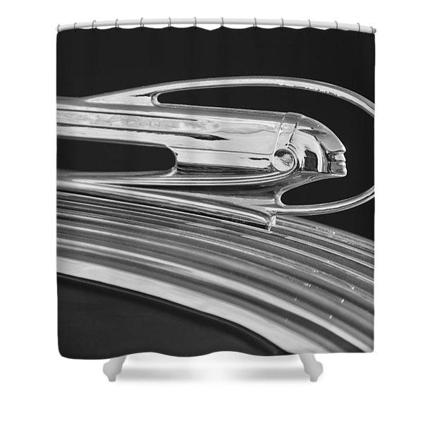1936 Pontiac Hood Ornament 5 Shower Curtain by Jill Reger