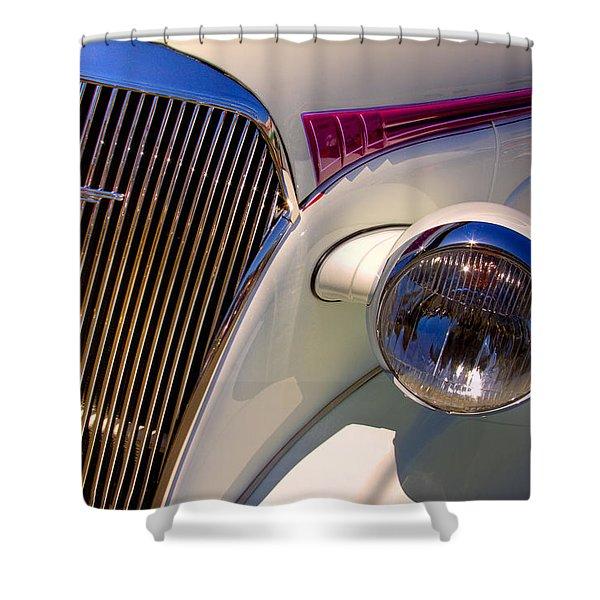 1937 Chevy 4 door sedan Shower Curtain by David Patterson