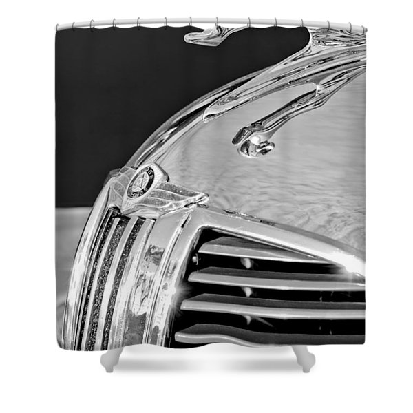 1938 Dodge Ram Hood Ornament 4 Shower Curtain by Jill Reger