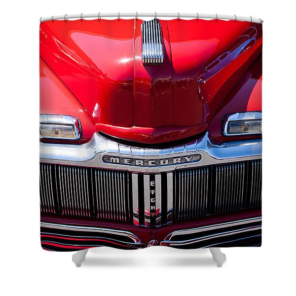 1946 Ford Mercury Eight Shower Curtain by David Patterson