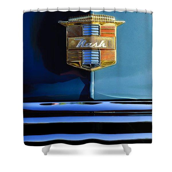 1947 Nash Surburban Hood Ornament Shower Curtain by Jill Reger