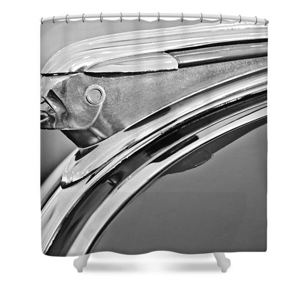 1948 Pontiac Chief Hood Ornament 2 Shower Curtain by Jill Reger
