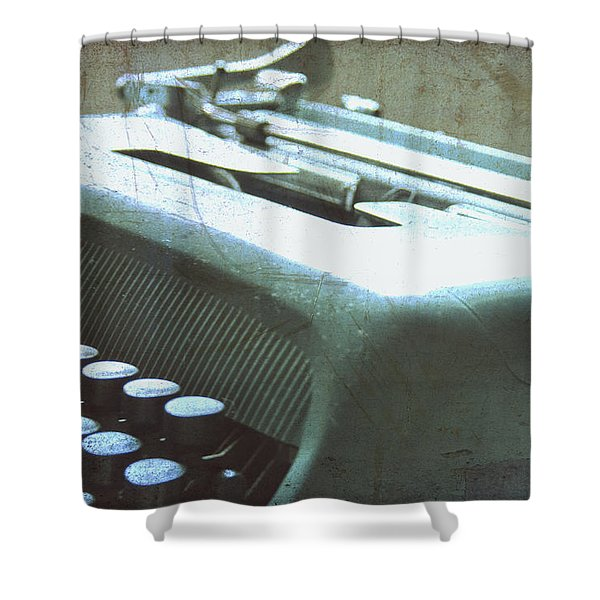1952 Olivetti Typewriter Shower Curtain by Nomad Art And  Design