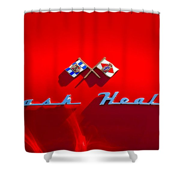 1953 Nash-Healey Roadster Emblem Shower Curtain by Jill Reger