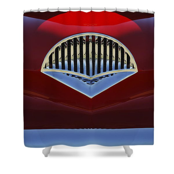 1954 Kaiser Darrin Grille Shower Curtain by Jill Reger