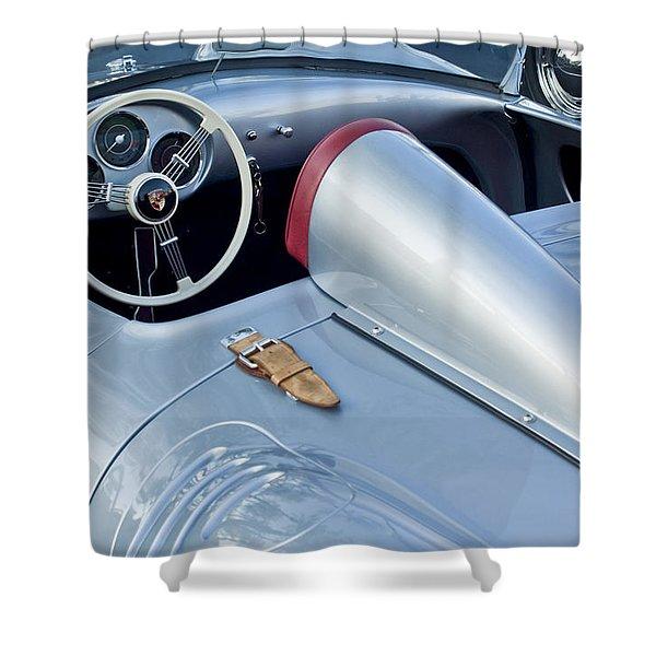 1955 Porsche Spyder  Shower Curtain by Jill Reger