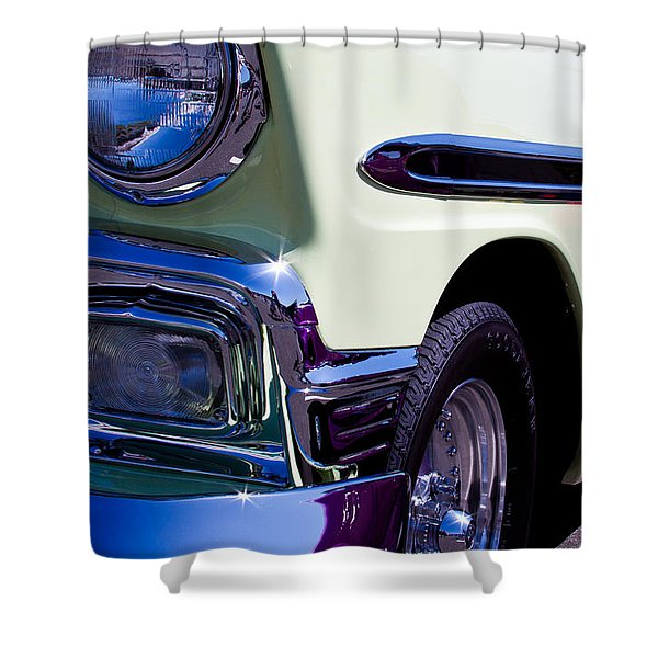 1956 Chevy Bel Air Custom Hot Rod Shower Curtain by David Patterson