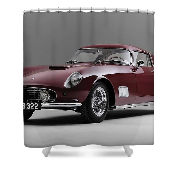 1956 Ferrari Gt 250 Tour De France Shower Curtain by Gianfranco Weiss