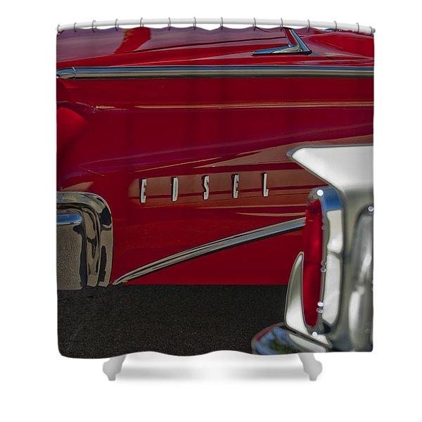 1960 Edsel Taillight Shower Curtain by Jill Reger