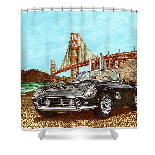 1960 Ferrari 250 California G T Shower Curtain by Jack Pumphrey