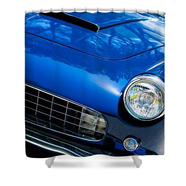 1960 Ferrari 250 Gtf Pinin Farina Cabriolet Series II Grille Emblem Shower Curtain by Jill Reger