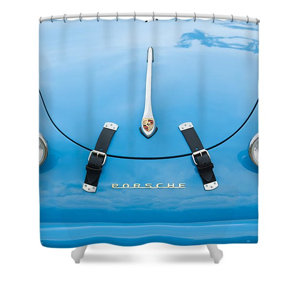 1960 Volkswagen Porsche 356 Carrera GS GT Replica  Shower Curtain by Jill Reger