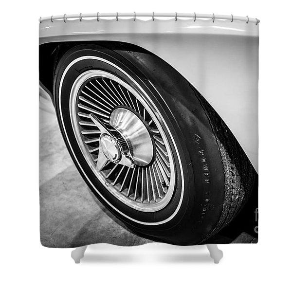1960's Chevrolet Corvette C2 Spinner Wheel Shower Curtain by Paul Velgos