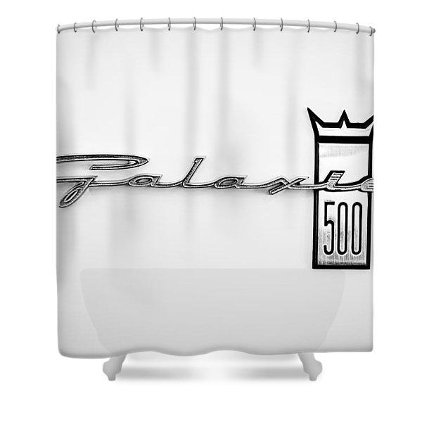 1963 Ford Galaxie 500 R-Code Factory Lightweight Emblem Shower Curtain by Jill Reger