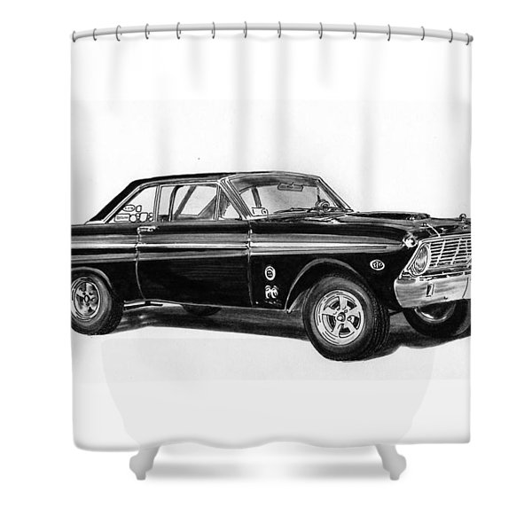 1965 Ford Falcon Street Rod Shower Curtain by Jack Pumphrey