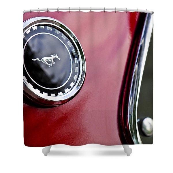 1969 Ford Mustang Mach 1 Shower Curtain by Jill Reger