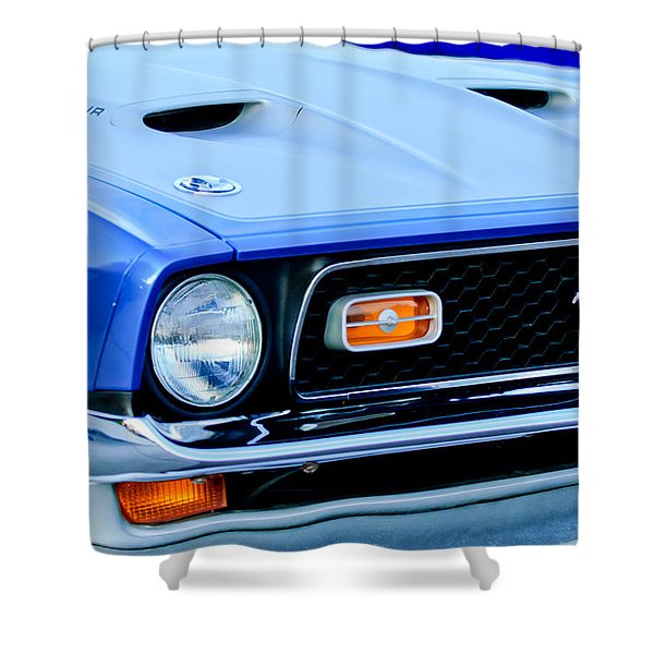1971 Ford Mustang Boss 351 Cleveland Shower Curtain by Jill Reger