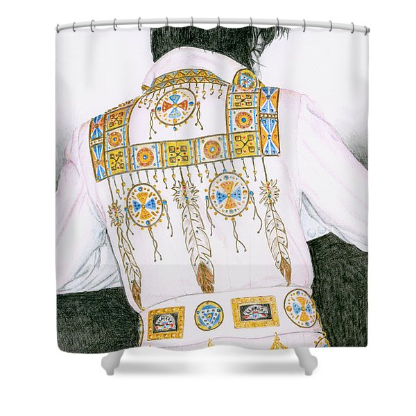 1975 Indian Chief Suit Shower Curtain by Rob De Vries