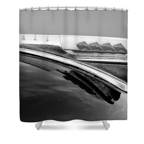 1947 Plymouth Hood Ornament Shower Curtain by Jill Reger
