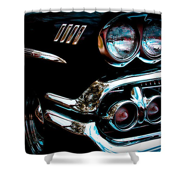 1958 Chevy Bel Air Shower Curtain by David Patterson