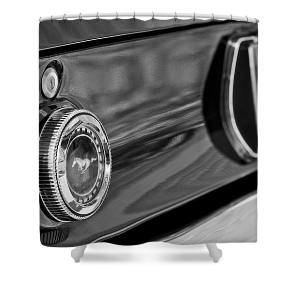 1969 Ford Mustang Taillights Shower Curtain by Jill Reger