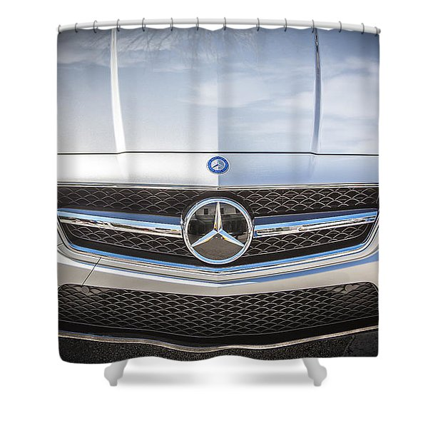 2012 Mercedes Cls 63 Amg Twin Turbo Bw Shower Curtain by Rich Franco