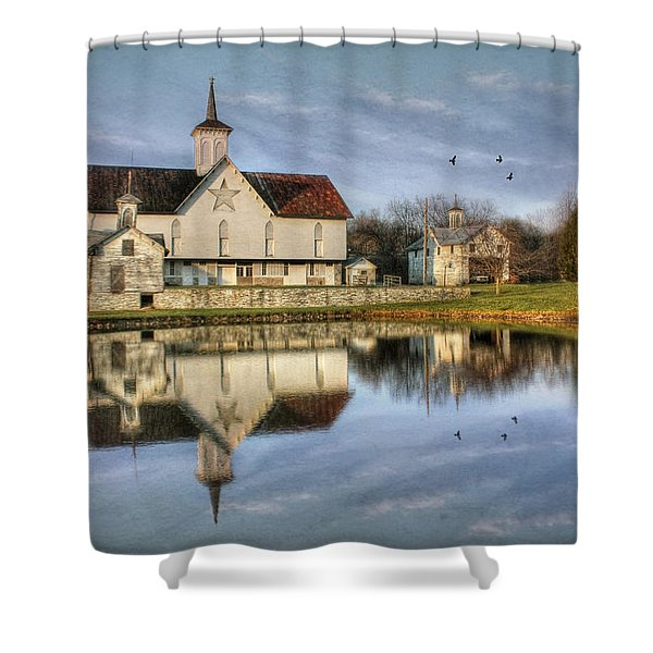 Afternoon At The Star Barn Shower Curtain by Lori Deiter