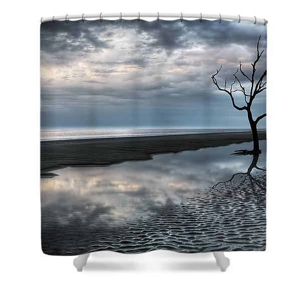 Alone Shower Curtain by Debra and Dave Vanderlaan
