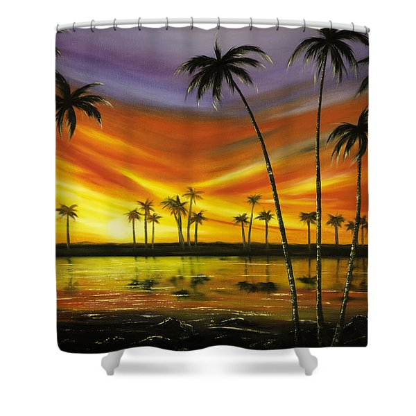Another Sunset In Paradise Shower Curtain by Gina De Gorna