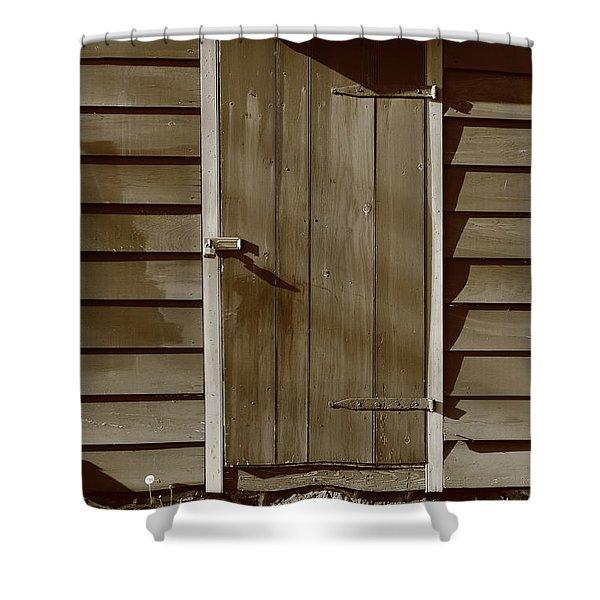Barn Door Shower Curtain by Frank Romeo