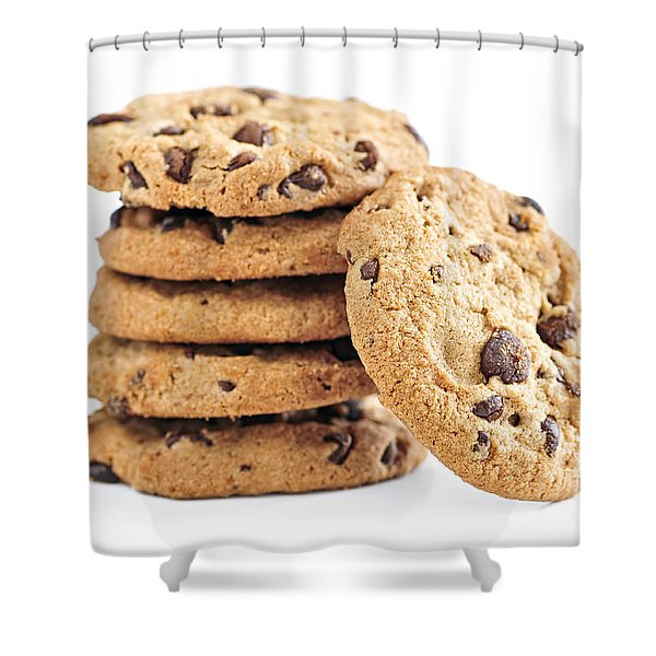 Chocolate chip cookies Shower Curtain by Elena Elisseeva