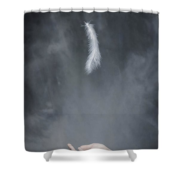 Feather Shower Curtain by Joana Kruse