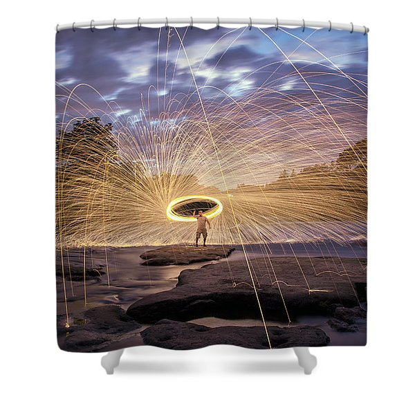Halo On The American River Shower Curtain by Lee Harland