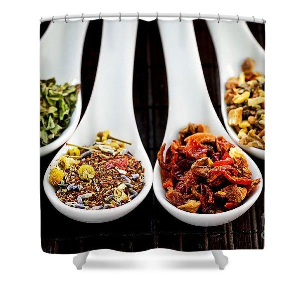 Herbal teas Shower Curtain by Elena Elisseeva