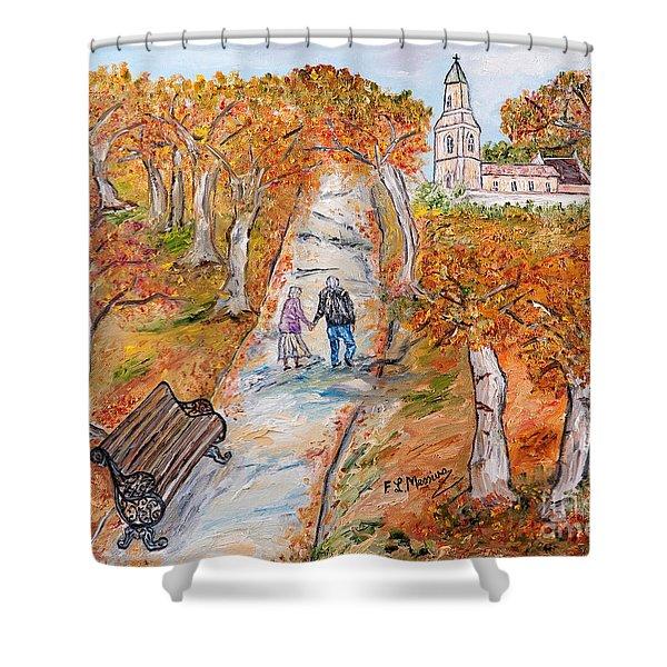L'autunno della vita Shower Curtain by Loredana Messina