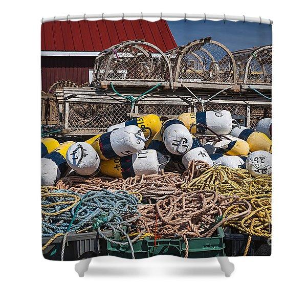 Lobster fishing Shower Curtain by Elena Elisseeva